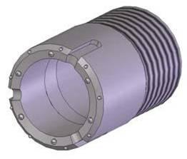 Rotary percussive casings carbide bit
