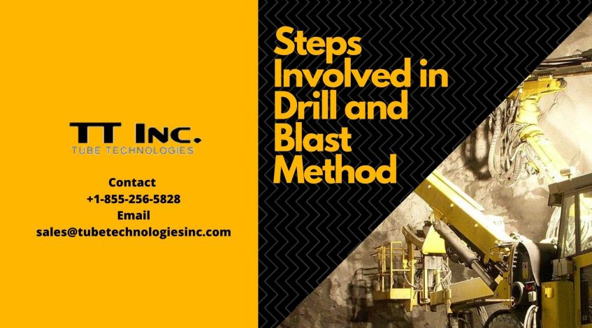 Steps Involved in Drill and Blast Method-min